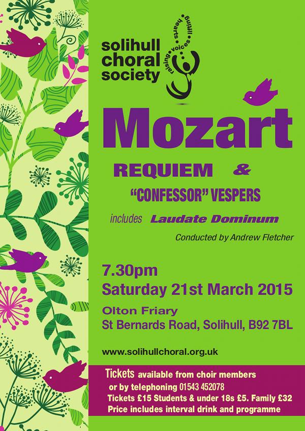 Mozart Requiem and Confessor Vespers